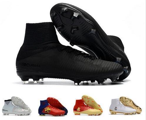 Men Women Mercurial Superfly CR7 V FG AG Football Boots Cristiano Ronaldo High Tops Neymar JR ACC Soccer Shoes Magista Obra Soccer Cleats