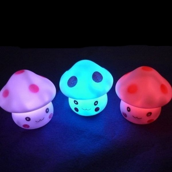 Personalized LED Night Light Colorful Funny Mushroom Press Down Touch Living Room Bedroom Desk Bedside Lamp for Baby Kids Christmas Gifts