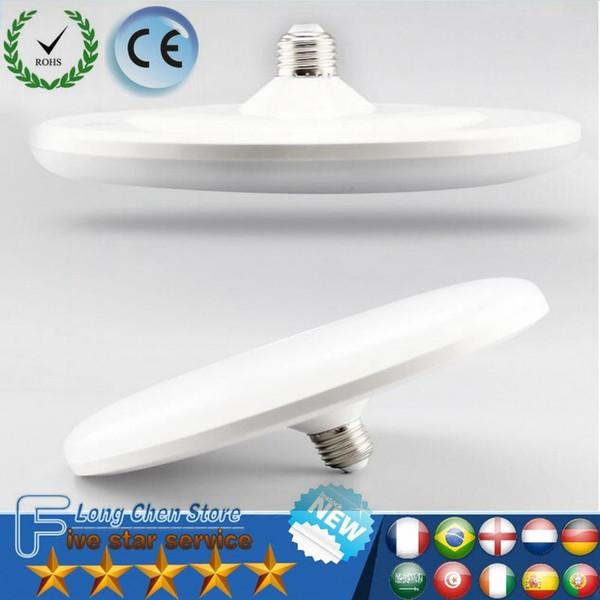 Luz do diodo emissor de luz do UFO E27 15W / 20W / 30W 1800LM 7530 SMD alto brilho Plástico LED Bulb Light Globo Flying Saucer Lâmpada Spotlight Bu