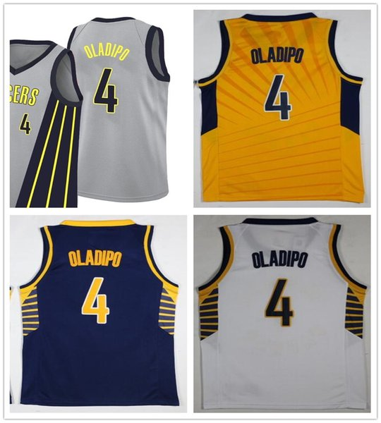 newest collection 10531 59dd3 2018 2019 New The City Edition Gray 4 Victor Oladipo Jerseys Basketball  Blue Yellow White Stitched Victor Oladipo Jersey Breathable Sportswear From  ...