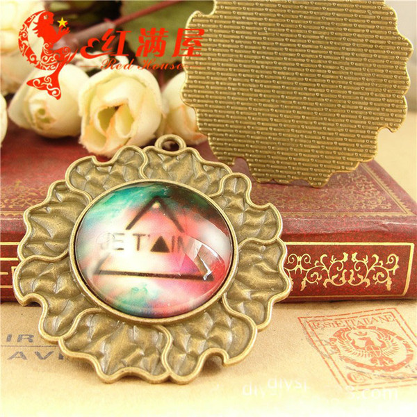 A4070 Fit 25MM Retro bottom care handmade accessories DIY antiquw bronze plated round cameo setting, cabochon base blank pendant tray