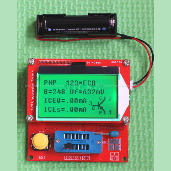 Freeshipping lithium battery version GM328 transistor RLC ESR Tester inductance NPN PNP diodes Combo Diode Triode Capacitance LCR meter