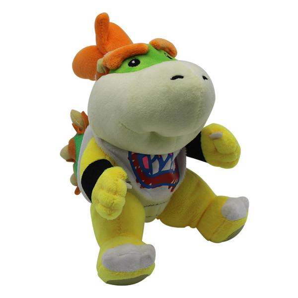High Quality Stuffed Plush Toy Kawaii Cartoon Super Mario Bowser Koopa JR Doll Creative Embroidery Crafts Gift For Kid 14 5tz YY