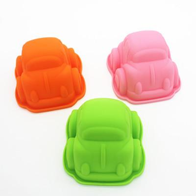 9.5 cm child favor small car shape silicone cake mold mould muffin cases for baby shower lin3932