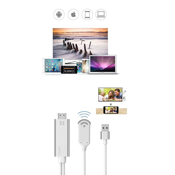 WiFi Wireless MiraScreen Video Adapter, Wireless HDMI Dongle zu 1080P HDTV Media Display Adapter für iPhone XS Max / XS / XR / X