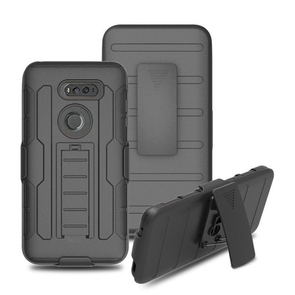 Armor Impact Hybrid Hard Case Cover+ Belt Clip Holster Kickstand Combo Shockproof cases For ZTE Blade X Max Grand X4 Tempo N9131