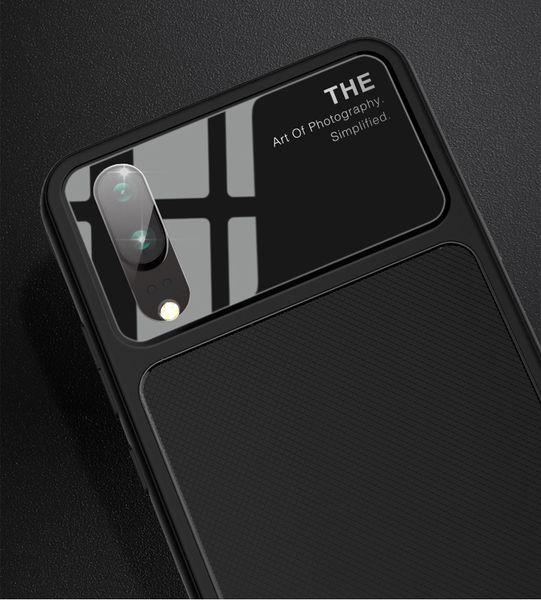 HUAWEI cep kabuk zafer 10 / P20 pro / P20 lite cep telefonu kapağı TPU + sertleştirilmiş cam koruyucu telefon kılıfı