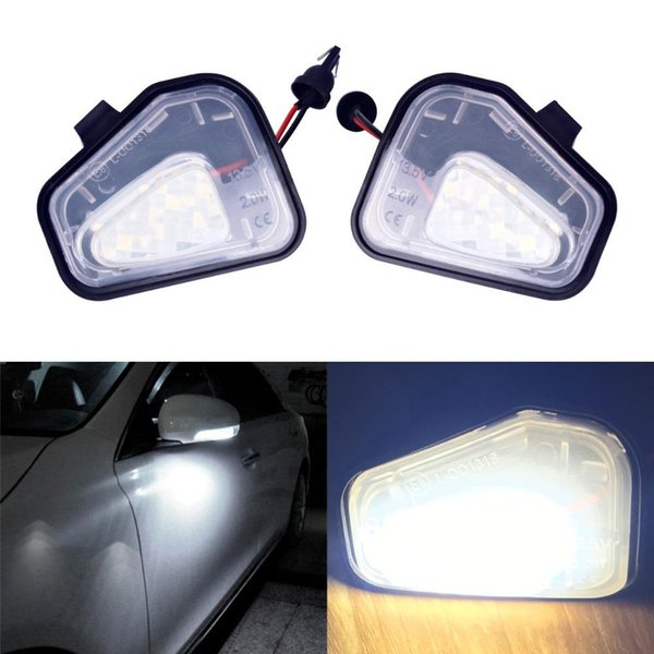 Kein Fehler Canbus Kein Fehler 2x LED unter Spiegelleuchte für VW Passat Santana Scirocco EOS CC Auto Styling Ersatz Auto Zubehör Lampe