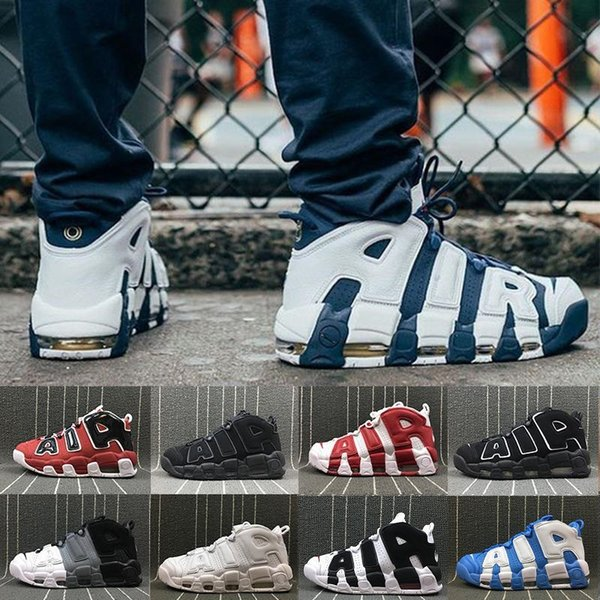 [Con scatola] Scarpe da basket da uomo Well 96 QS Olympic Varsity Maroon per altri 3M Sneakers sportive Scottie Pippen Uptempo 8-13