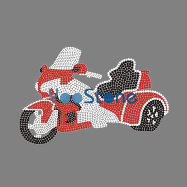 Dirt Diva Motorcycle Iron On Rhinestone Heat Transfer Hot Fix Motif 20pcs
