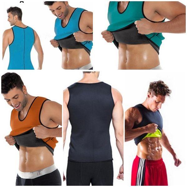 Горячие мужчины для похудения жилет Shaper Body неопрена живота сжигания жира Shaperwear талия пот корсет потеря веса S-5XL