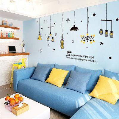 Bulk Lots 240*106cm Star & Lighting Wall Stickers Wallpaper Paper Peint 3d Home Decor Bathroom Kitchen Accessories Household Suppllies