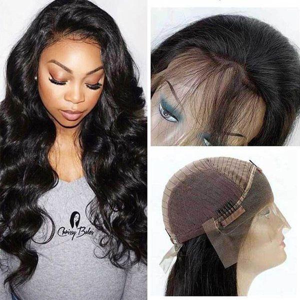 Long Body Wave Wigs for Women 150% Density Lace Front Wigs with Baby Hair Brazilian Virgin Human Hair Weaves Wavy Wigs Cheap Deals