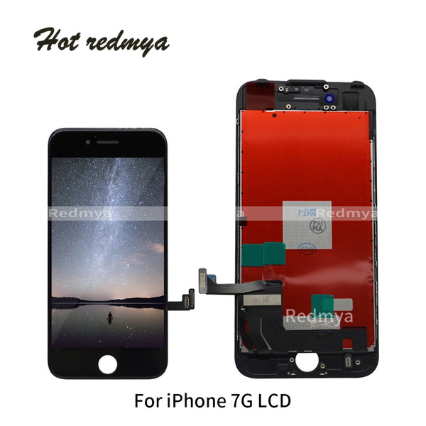 Wholesale Tested For iPhone 7 7G LCD Display+Touch Screen Digitizer+Front Frame Assembly Touch Panels Full LCD Complete Repair Parts