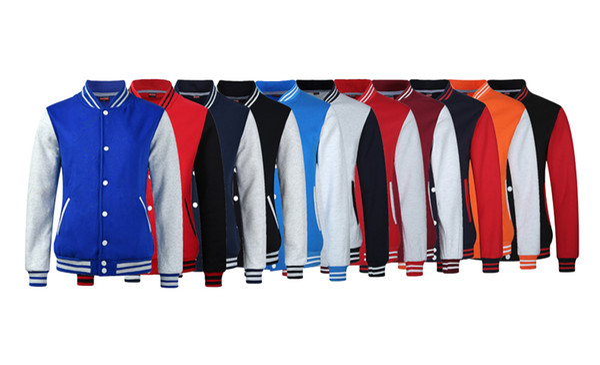 Neue High School Baseball Jacke Männer Veste Homme 2017 Herbst Mens Fashion Slim Baumwolle Varsity Jacken Casual Marke College Jacke