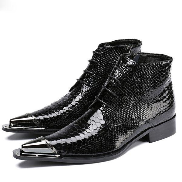 Großhandel Größe Schwarz Von Stiefel Schöne Hochzeit Business Männer 38 47 Heels Lederstiefel Klassische Stiefeletten Low Spitz Für CWQBrodxe
