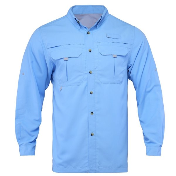2018 Men Fishing Shirt Outdoor LS Shirt Fishing Clothes Man Hiking Shirts Quick Dry UPF40+ UV Shirt Plus USA Size L-XXL Camisa C18111501