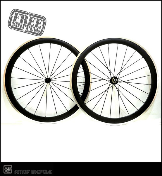 Free shipping Pro Superlight 700c 50mm Carbon Fiber Clincher Road Bike Bicycle Wheels, Bitex Hubs, Aluminum Alloy Brake Cycling