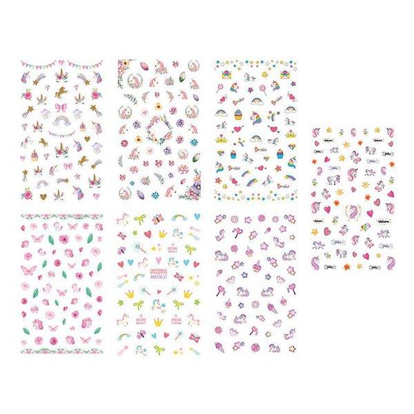 Stickers Ongles Femelle Lumière De Sécurité Stickers 3D Nail Art Stick Series.