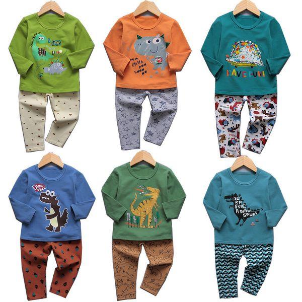 Bebek kız erkek dinozor Hayvan baskı kıyafetler çocuk unicorn pijama takımları 2018 Sonbahar Butik çocuk Giyim setleri 27 stilleri C4594