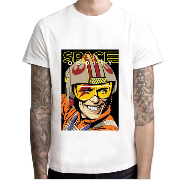 2daf3590ba0bf1 David Bowie Raum T-shirt Männer Anime T-shirt Männer Tops Jungen Kurzarm T