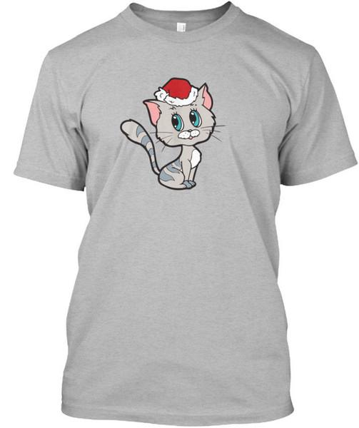 Christmas Kitty Standard Unisex T-Shirt Tees Shirt Men Male Funny Custom Short Sleeve Valentine's 3XL Men's Tee Shirts