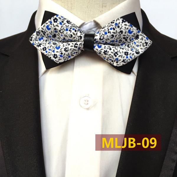 Männer Blumen Muster Bowtie Baumwolle Jacquard Scharfe Ecke Fliege Bräutigam Hochzeit Anzüge Krawatte