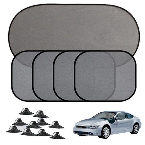 5pcs Black Auto Sunshade Car Window Suction Cup Car Sun Shade Car Curtain Auto Sun Shade Covers Sun Visor