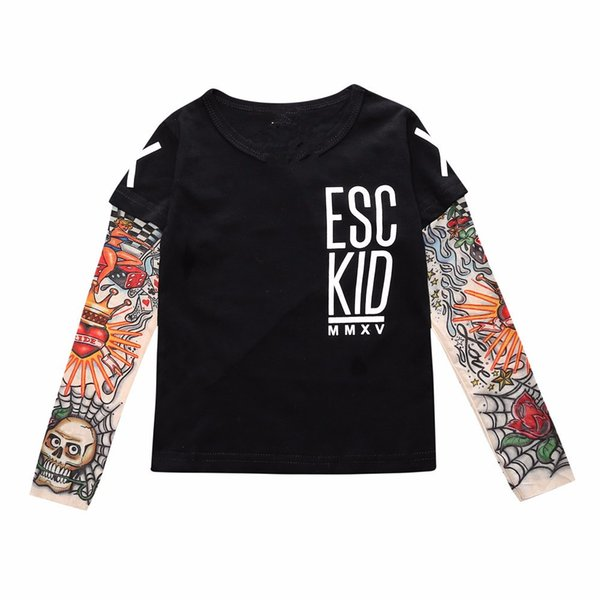 2018 Summer spring Outfits Long Sleeve T-shirts Baby boy girls ClothesTatton Cotton