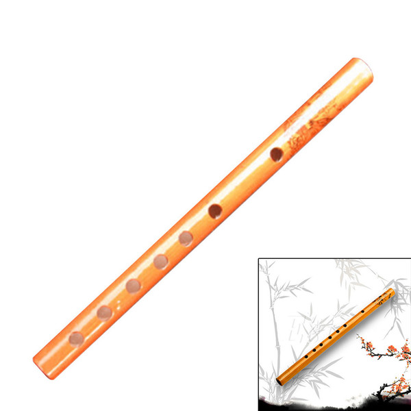 Wood Color Chinese Traditional 6 Hole Bamboo Flute Clarinet Student Musical Instrument