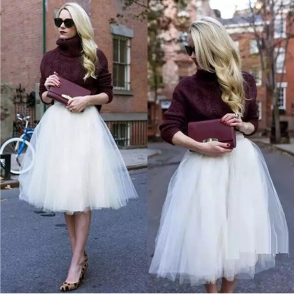 Stunning Tulle Party Tutu Dress Cheap Layers Skirts Custom Made Plus Size Party Bridesmaid Skirts Only
