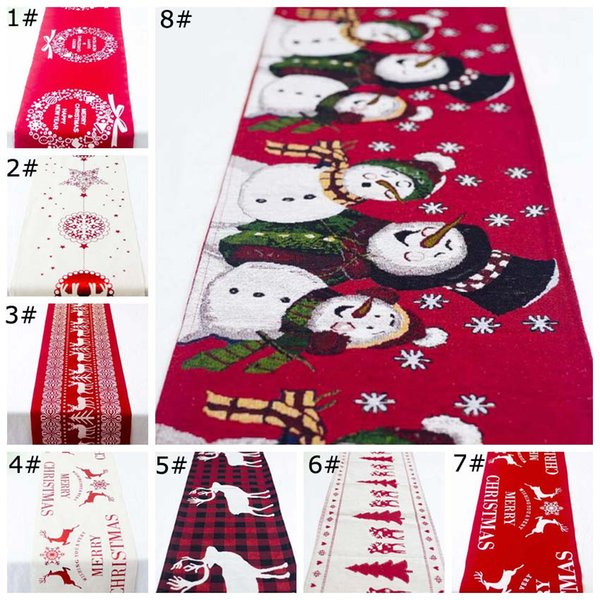 2019 New Year Christmas Tablecloth Linen Dustproof Table Cover X-mas Dinner Tablecloth Home Party Decor Linen Cloth