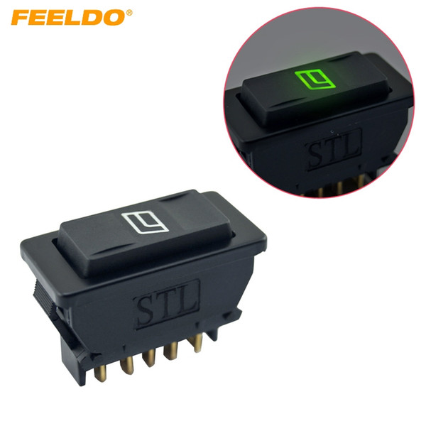 best selling FEELDO Universal 5pins Car Power Window Switch 12V 24V 20A with illumination indicator #2944