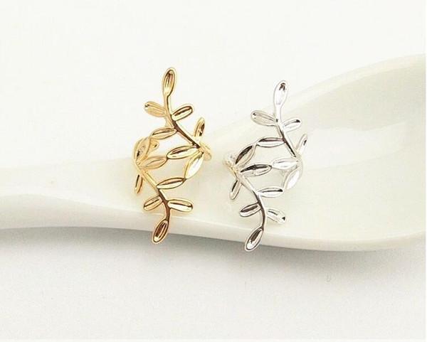 best selling 20 pair lot,Elegant No hole ear clip Ear - free ear buckle Women's Earrings sprawling leaf Branch modeling Adjustable Not fading Earrings