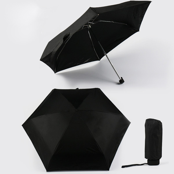 Hot Sale Mini Pocket Umbrella Women Sunny and Rainy Mini Folding Umbrellas 200g Small Sun Parasol Umbrella