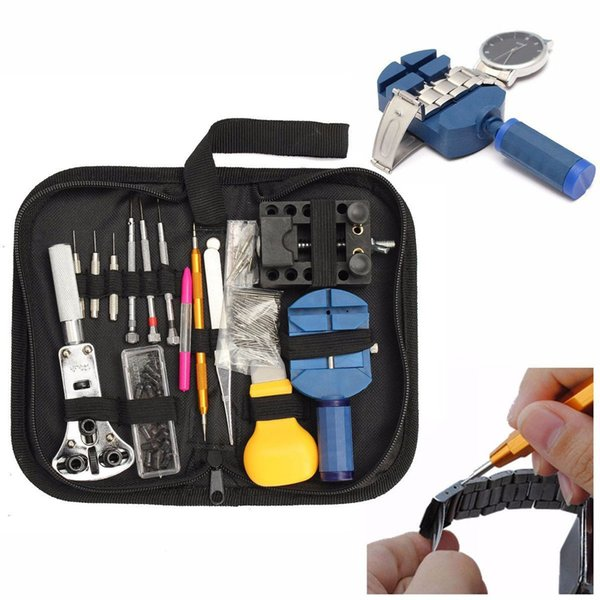 144 Sets of Repair Table Tools Watch Tools Clock Repair Tool Kit Opener Link Pin Remover Set Spring Bar Watchmaker