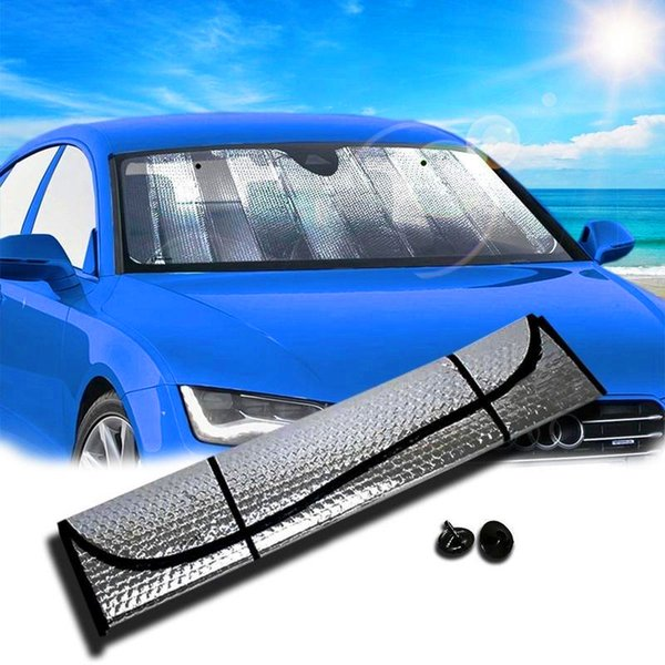 2018 New Hot Casual Foldable Universal Car Windshield Visor Cover Front Rear Block Window Sun Shade Free Shipping&Wholesale