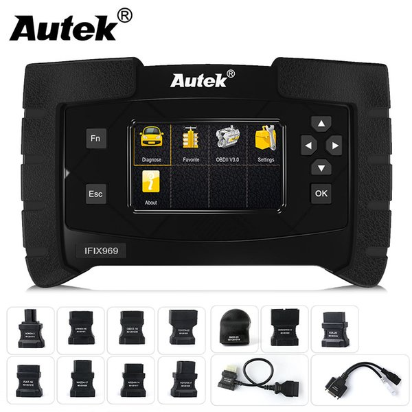 Autek IFIX969 Automotive scanner Full System Diagnostic Tool for Airbag ABS SRS SAS EPB Crash data Reset TPMS Scan Free Update