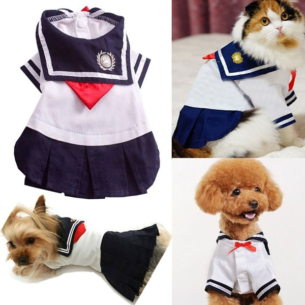 Cute Pet Cat Clothes For Small Cat Costumes Clothes Shirt Dress Skirt Summer Short Sleeve Pets Chihuahua York Supply 30 S1