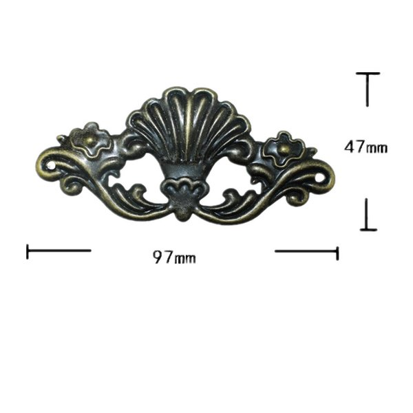 Wooden Box Coner,Wine Box Protector,Embellishment Findings Flower Corners Antique Bronze Tone,Old Style,Vintage Cover,4Pcs Furniture access