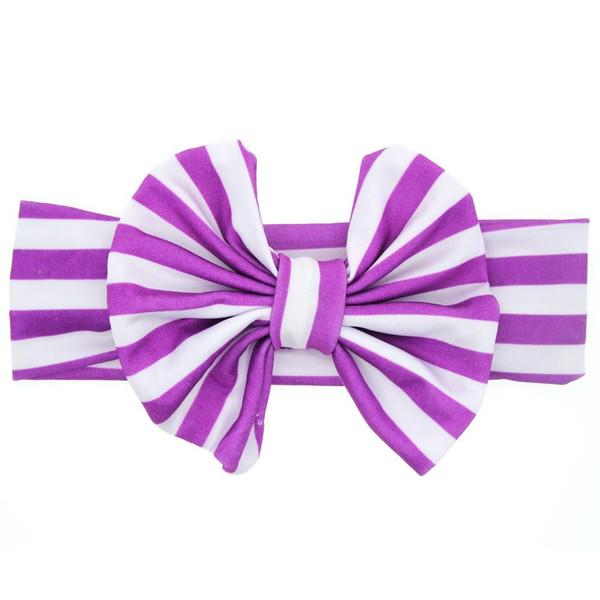 purple flower ribbon hair clip bow crochet headband accessory for baby gril 001