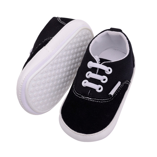 Unisex Baby Boy Shoes First Walkers Soft Soled Canvas Shoes Casual Baby Walker Anti-slip Girl Crib Moccasins