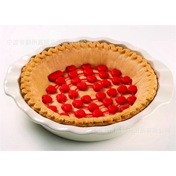 Food Grade Cake Mold Silicone Red Love Bakeware Portable Chain Baking Pie Moulds Kitchen Tool Pure Color 11jl bb