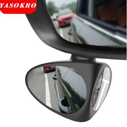 YASOKRO Car Blind Spot Mirror Wide Angle Mirror 360 Rotation Adjustable Convex Rear View Mirror for Safety Parking Carr