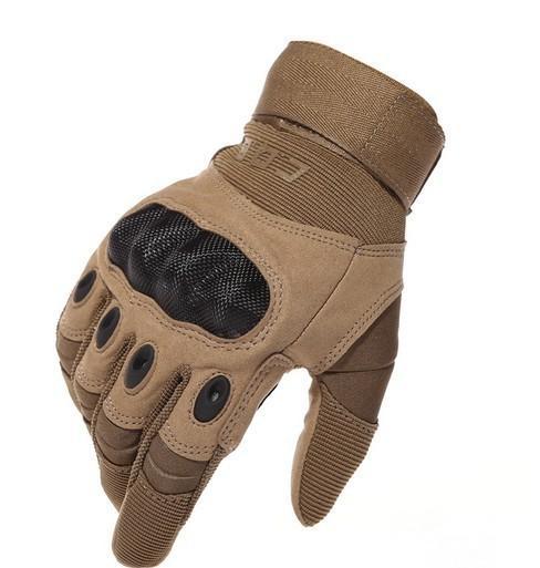 US Army Tactical Gloves Vollfinger-Kampfhandschuhe Motocycle Work Rutschfeste Schildpatt aus Kohlefaser
