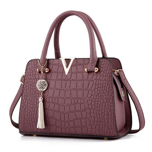 Frauen-Schulter-Beutel-Krokodil-Muster-Kupplungs-Handdiagonal-weibliche Sätze PU-Paket Diagonal-Dame Cross Body Packages Mädchen-Taschen-Tasche
