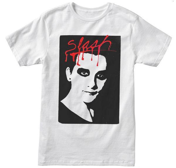 Dave Vanian The Damned Slash Mag Punk Mens Branco T-shirt NOVO S -2XL 3XL 4XL 5XL