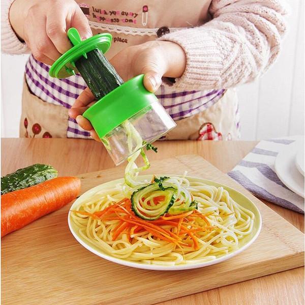Spiralizer Trancheuse /& Récipient Légumes Aliments Fruit Cutter Courgette Noodle Maker