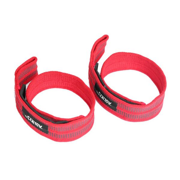 1 par vendaje de presión de la muñeca de la presión vendaje de la correa de color rojo nueva pulsera de la aptitud de algodón de nylon banda de muñeca antideslizante