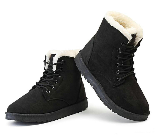 Brand New Classic Style women winter shoes flat heel ankle boots casual cute warm shoes fashion snow boots women's boots